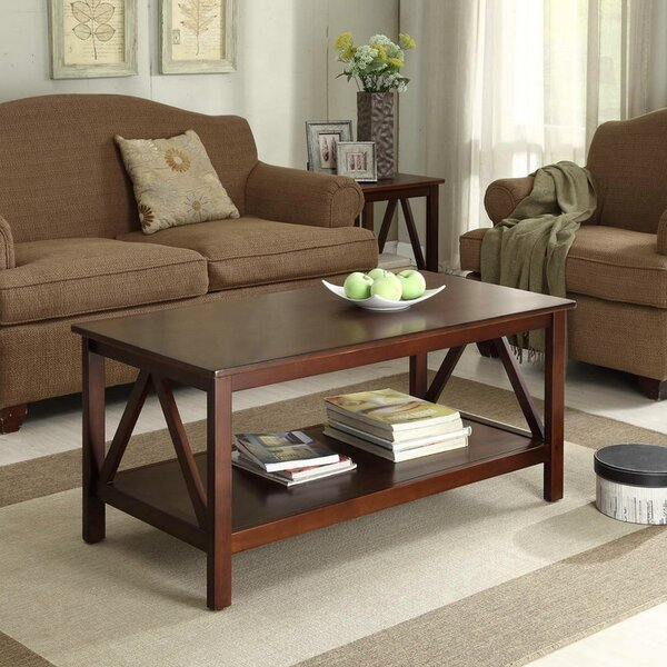 Brassiewood 2 Piece Coffee Table Set by Three Posts