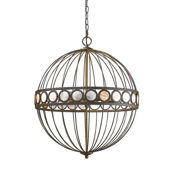 Castlewood 6-Light Unique / Statement Globe Chandelier By Highland Dunes