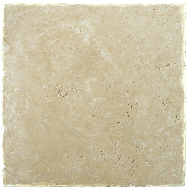 Natural Stone Fontane 12 x 12 Travertine Field Tile in Ivory Classic by Emser Tile