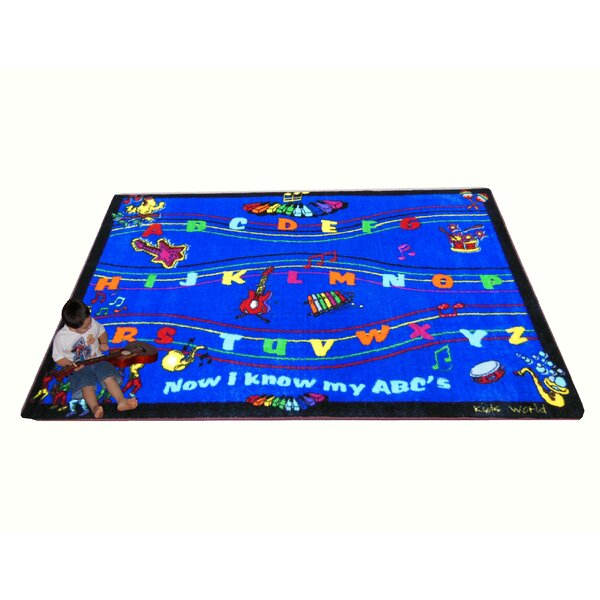 ABC Song Blue Area Rug by Kids World Carpets