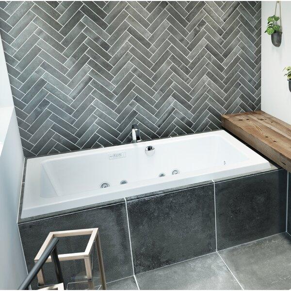 Sia Salon Illuma Whisper Right-Hand 72 L x 42 W Drop In Salon Bathtub by Jacuzzi®