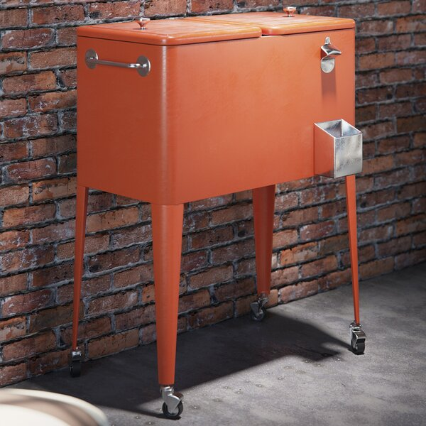 60 Qt. Crispin Rolling Cooler by Brayden Studio