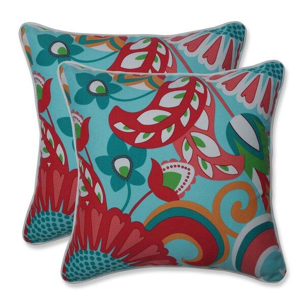 Sisneros Indoor/Outdoor Geometric Throw Pillow (Set of 2)