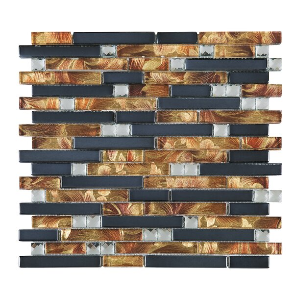 Wallpaper Random Sized Glass Tile in Blue/Brown by Multile