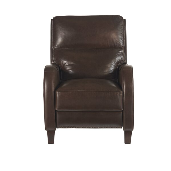 Manders Leather Recliner by Red Barrel Studio