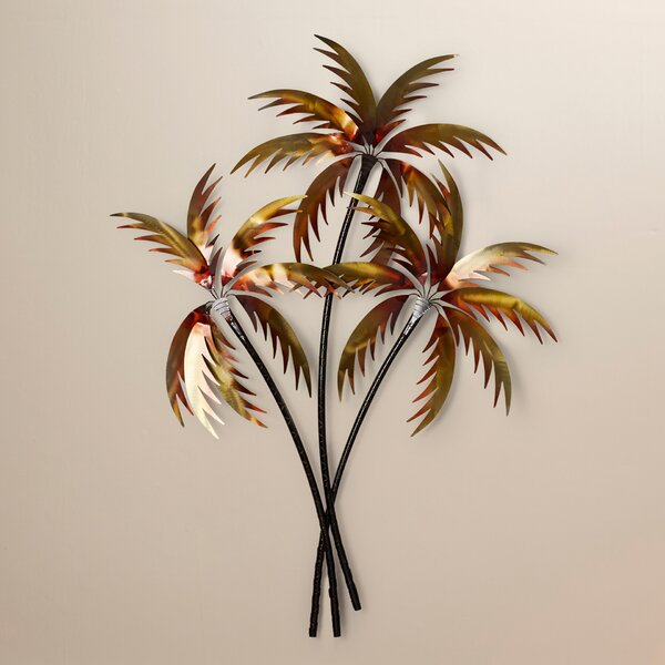 3 Copper Palm Trees Wall Décor by Bay Isle Home