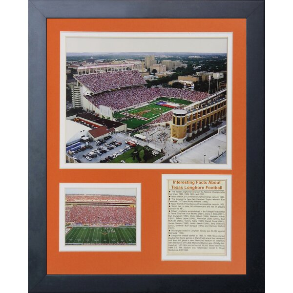 Texas Longhorns Darrell K Royal Texas Memorial Stadium Framed Memorabilia by Legends Never Die