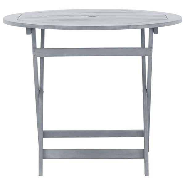 Walla Folding Solid Wood Bistro Table by Gracie Oaks