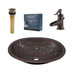 Budget Pauling Metal Oval Undermount Bathroom Sink with Faucet By Sinkology