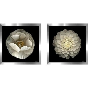 'Dahlia 22' 2 Piece Framed Photographic Print Set Under Glass (Set of 2) by Zipcode Design