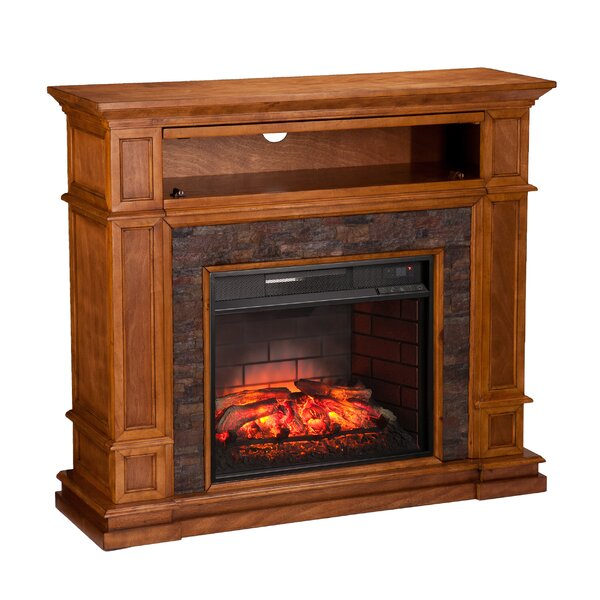 Shanks Sienna With Infrared Media Electric Fireplace by Alcott Hill Alcott Hill