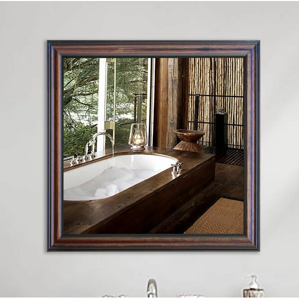 Square Wooden Wall Mirror by Darby Home Co