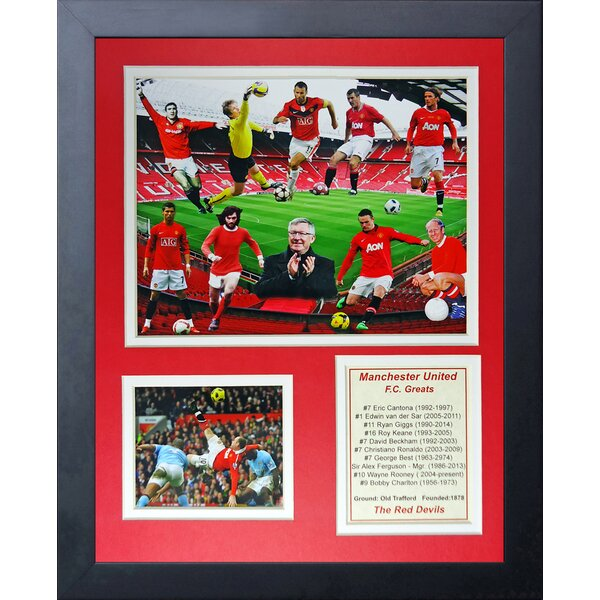Manchester United FC Greats Framed Memorabilia by