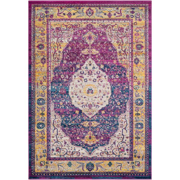 Kay Magenta Area Rug by Bungalow Rose