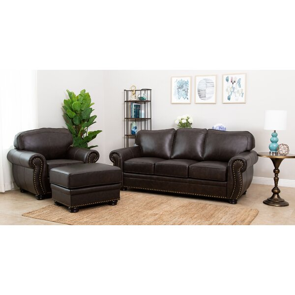 Morgenstern 3 Piece Leather Living Room Set by Darby Home Co