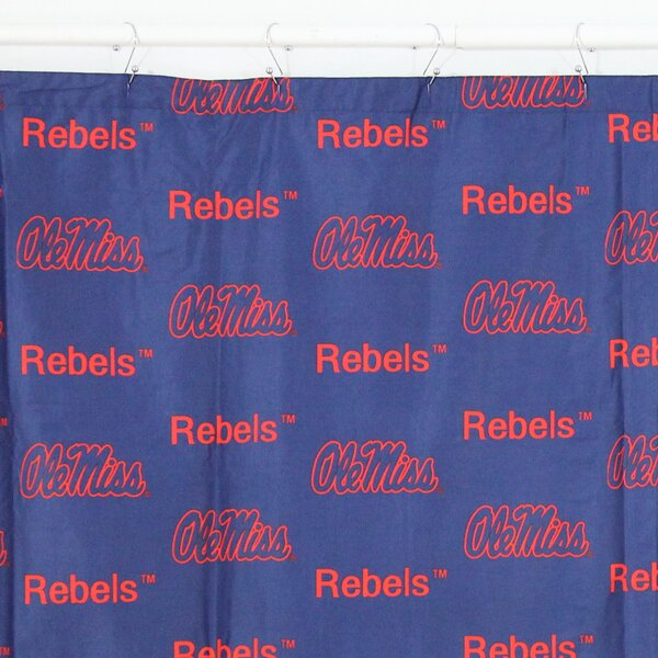 NCAA Ole Miss Printed Shower Curtain by College Covers