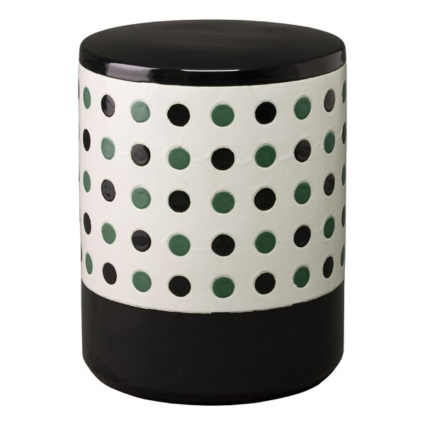 Stephania Polka Dot Garden Stool By Latitude Run by Latitude Run Discount