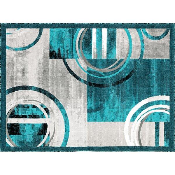 Chorleywood Turquoise/Gray Area Rug by Orren Ellis