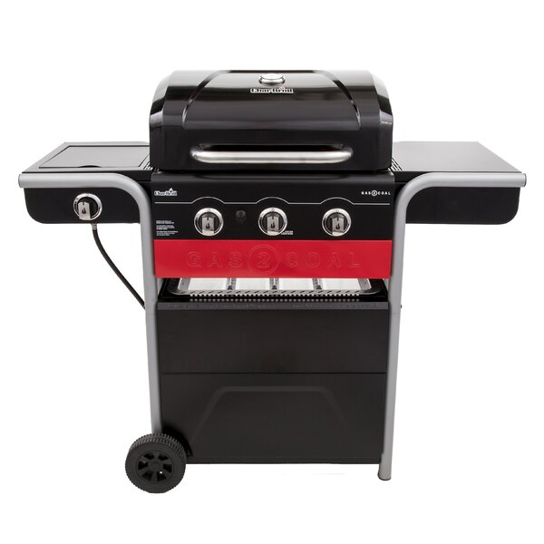 Gas2Coal Charcoal and 3-Burner Propane Gas Grill by Char-Broil