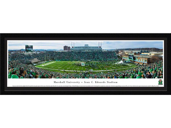 NCAA Marshall University - Football - End Zone by Christopher Gjevre Framed Photographic Print by Blakeway Worldwide Panoramas, Inc