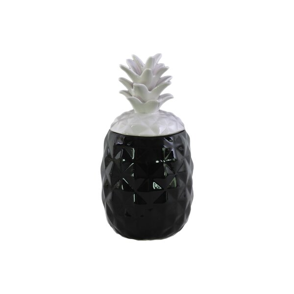 Ceramic Pineapple Sculpture with Lid by Urban Trends