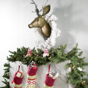 little sitting santa decor in red set of 2 - Wayfair Outdoor Christmas Decorations