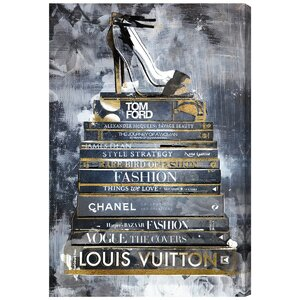 'Clear Fashion Thoughts Enzo' Painting Print on Canvas by Willa Arlo Interiors