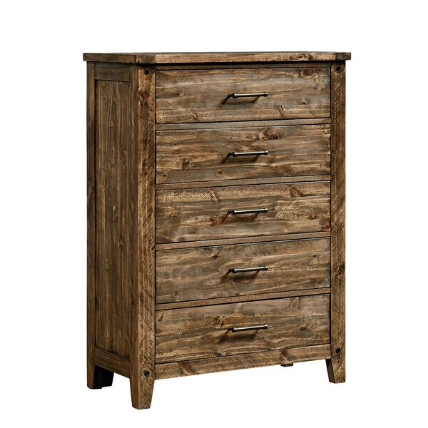 Burleigh 5 Drawer Standard Chest by Loon Peak
