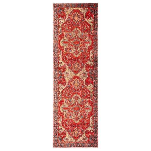 Farragut Red/Beige Indoor/Outdoor Area Rug by World Menagerie