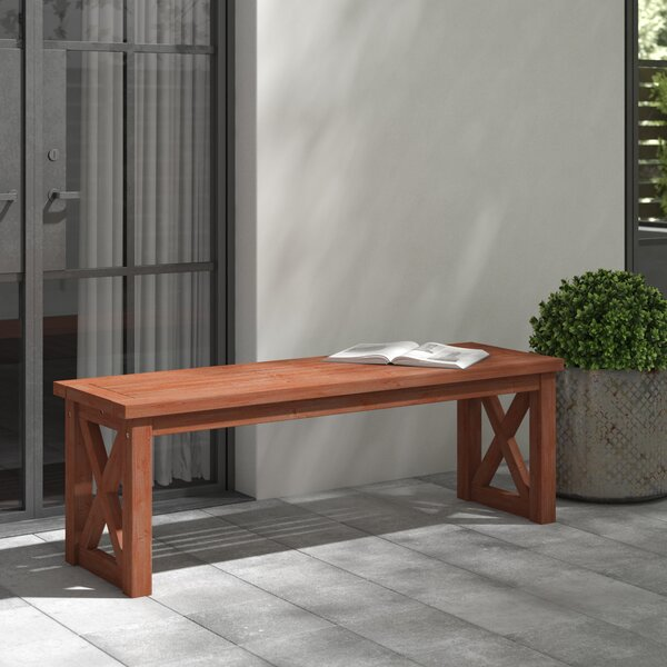 Tim X Leg Patio Wooden Picnic Bench by Birch Lane™ Heritage