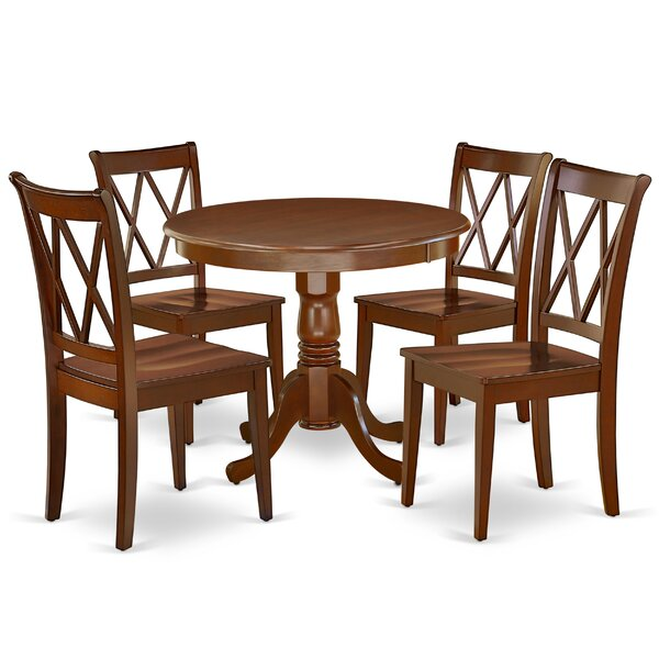 Korbin 5 Piece Solid Wood Breakfast Nook Dining Set by August Grove August Grove