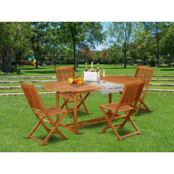Rey 5 Piece Patio Dining Set by Longshore Tides