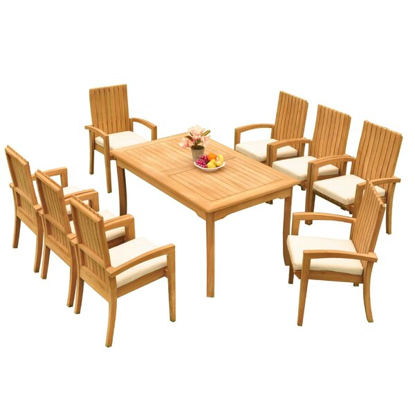 Webster 9 Piece Teak Dining Set by Bayou Breeze