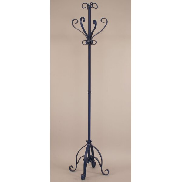 Iron Plain Pedestal Coat Rack by Coast Lamp Mfg.