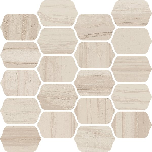Burano 12 x 13 Ceramic Mosaic Tile in Sabbia Mezzo by Interceramic