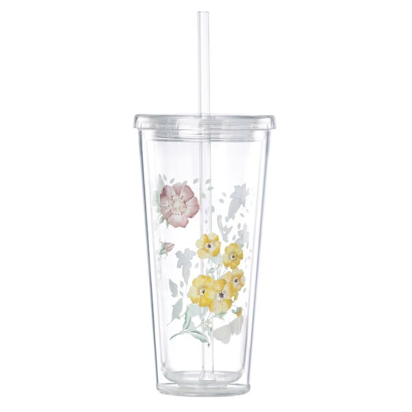 Meadow 20 oz. Plastic Travel Tumbler by Lenox