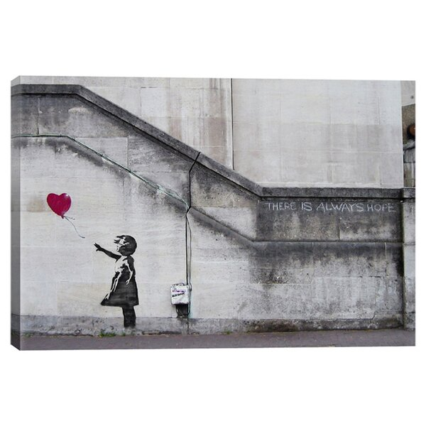 There Is Always Hope Balloon Girl by Banksy Graphic Art Print on Canvas by iCanvas