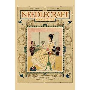 'Victorian Girl does Needlepoint Portrait' by Needlecraft Magazine Vintage Advertisement by Buyenlarge