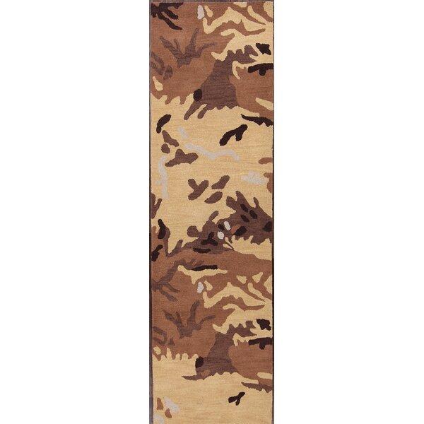 Kathy Hand-Tufted Wool Beige/Brown Area Rug