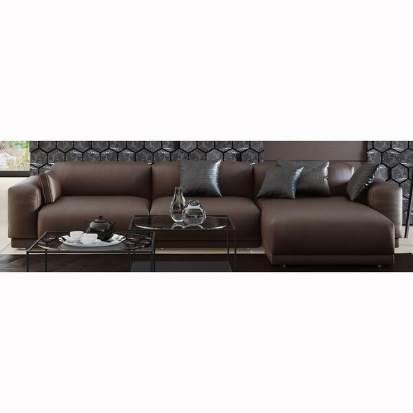 Alisson Right Hand Facing Leather Sectional By Brayden Studio