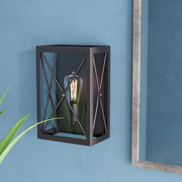 Harlon 1-Light Wall Sconce by 17 Stories
