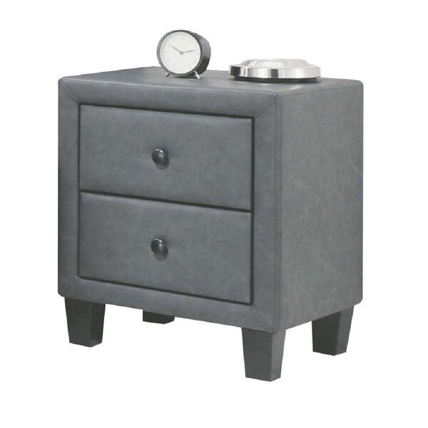 Kolten 2 Drawer Nightstand by Alcott Hill