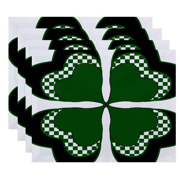 Funky Junky 4 Leaf Clover Placemat (Set of 4) by The Holiday Aisle
