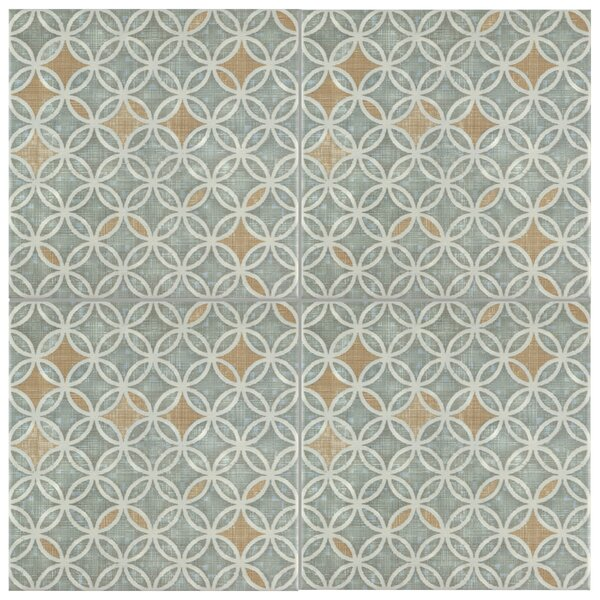 Illica 7.75 x 7.75 Ceramic Field Tile in Light Blue/Brown by EliteTile