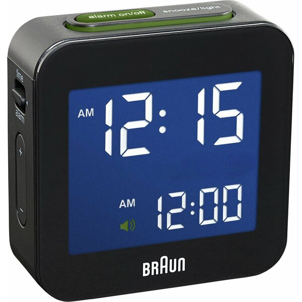 Digital Travel Alarm Tabletop Clock by Braun