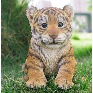 Sitting Tiger Cub Statue