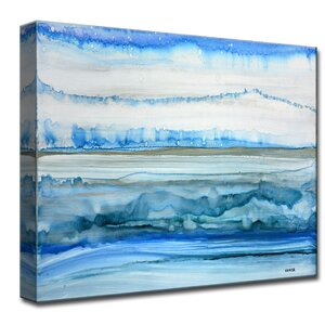 'Frigid Morning' by Norman Wyatt Jr. Painting Print on Wrapped Canvas by Ready2hangart