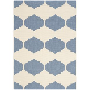 Short Beige/Blue Contemporary Rug By Winston Porter