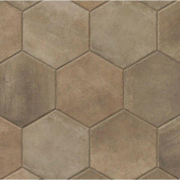Tribal 13.5 x 13.5 Porcelain Hexagon Tile in Dark by Grayson Martin