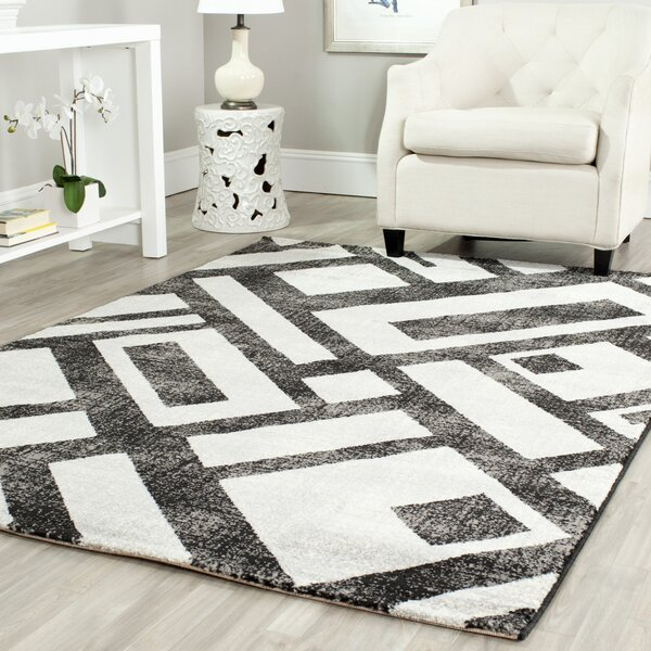 Shroyer Black / Gray Area Rug by Wrought Studio